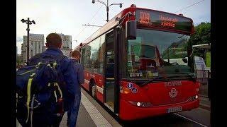 Sweden, Stockholm, ride with bus No 509 from Sundbyberg Centrum to Solna Centrum