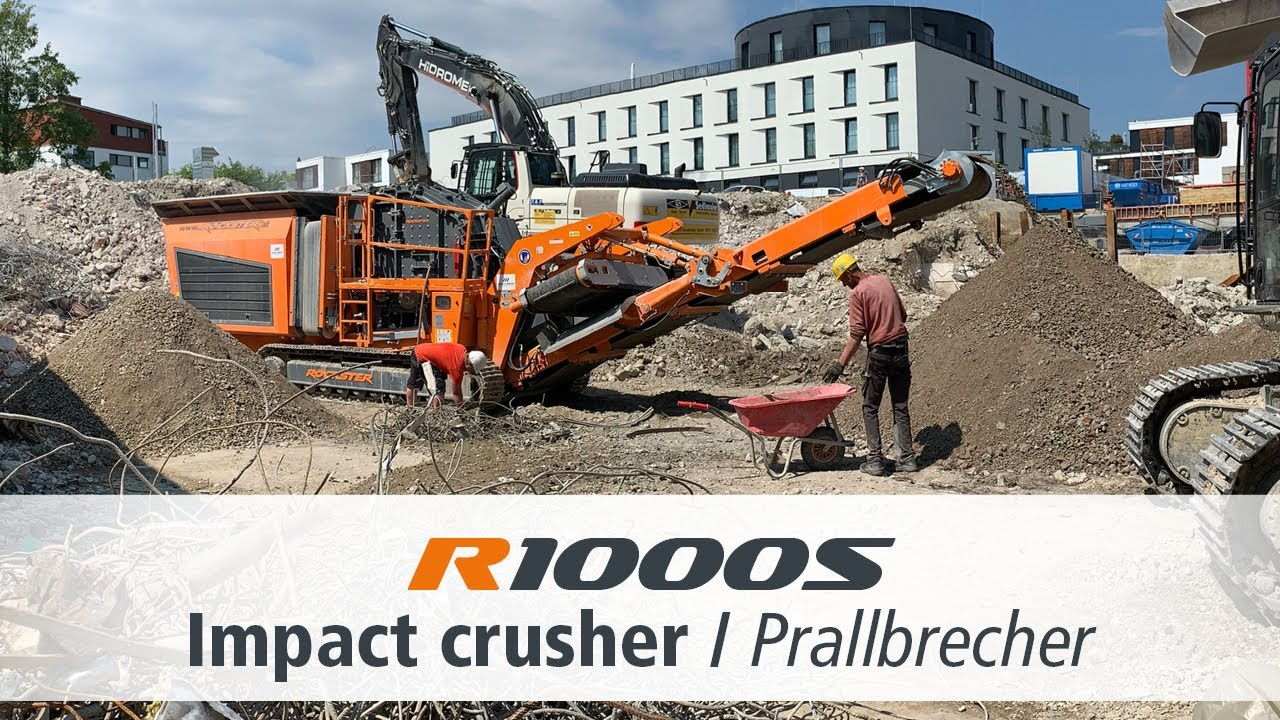 R1000S Closed Circuit Impact Crusher / Mobiler Prallbrecher / Demolition Debris Recycling