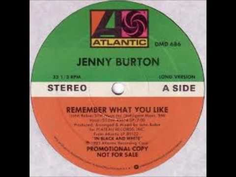 Jenny Burton  Remember What You Like