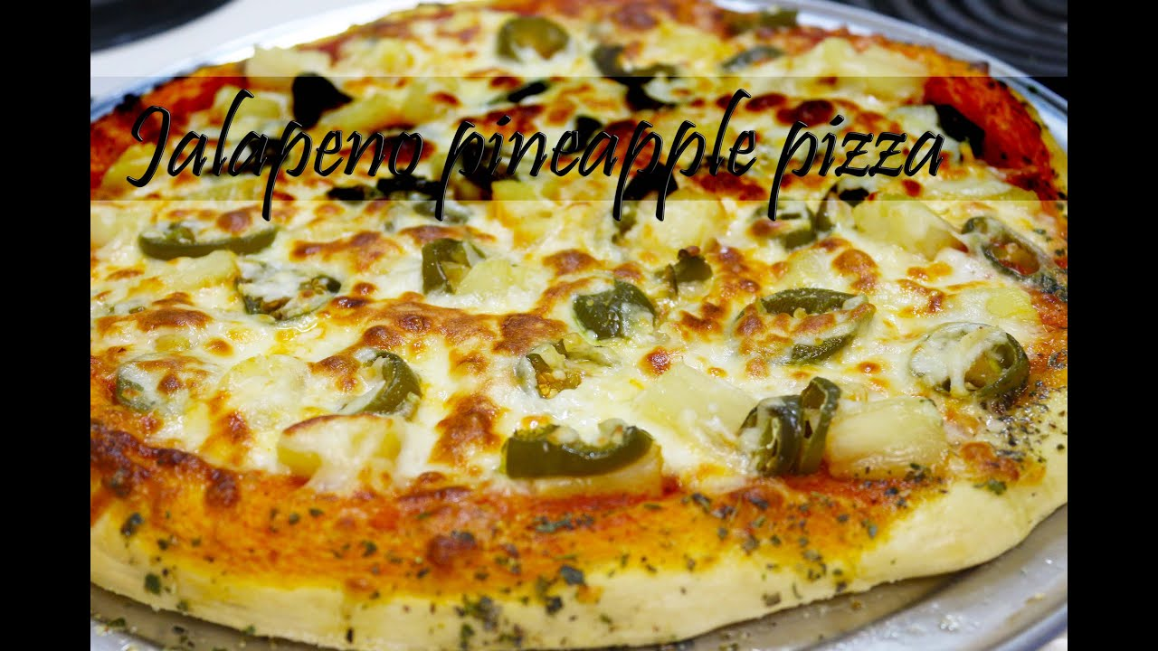 Jalapeno Pineapple Pizza With Herb Garlic Butter By