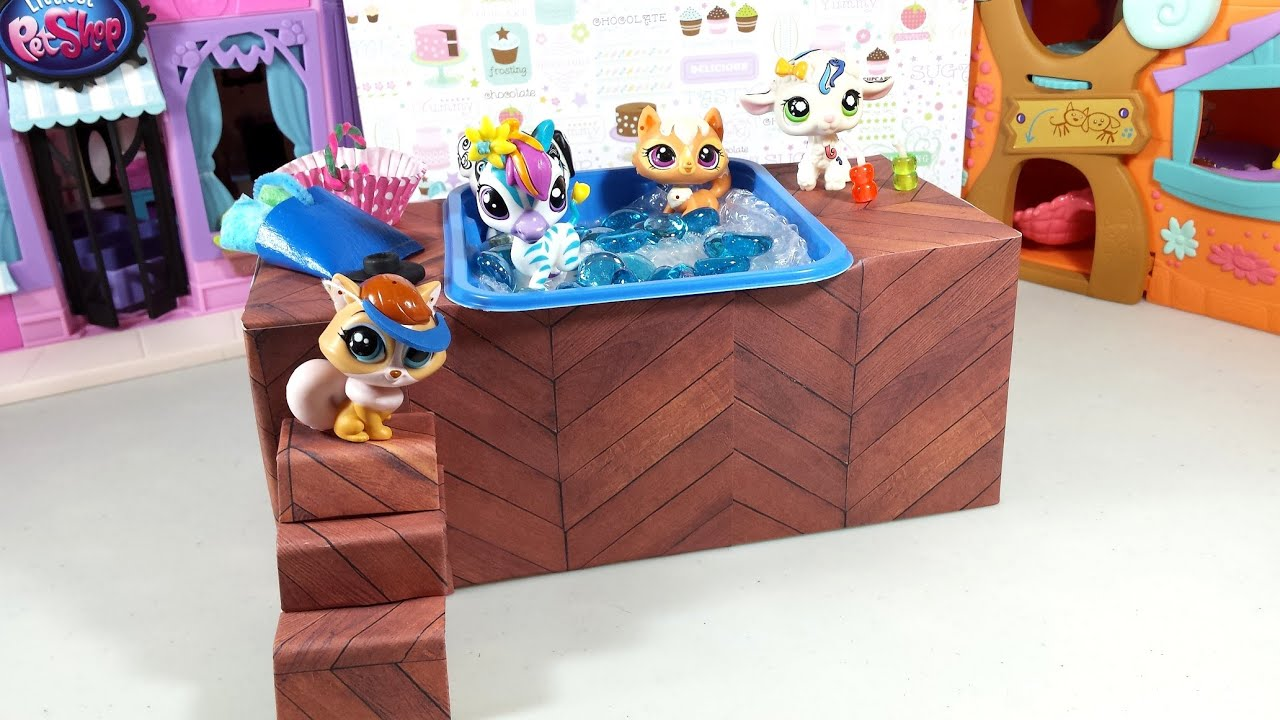 Easy DIY Custom LPS Doll Accessories: How to Make a Tiny Hot Tub Spa ...
