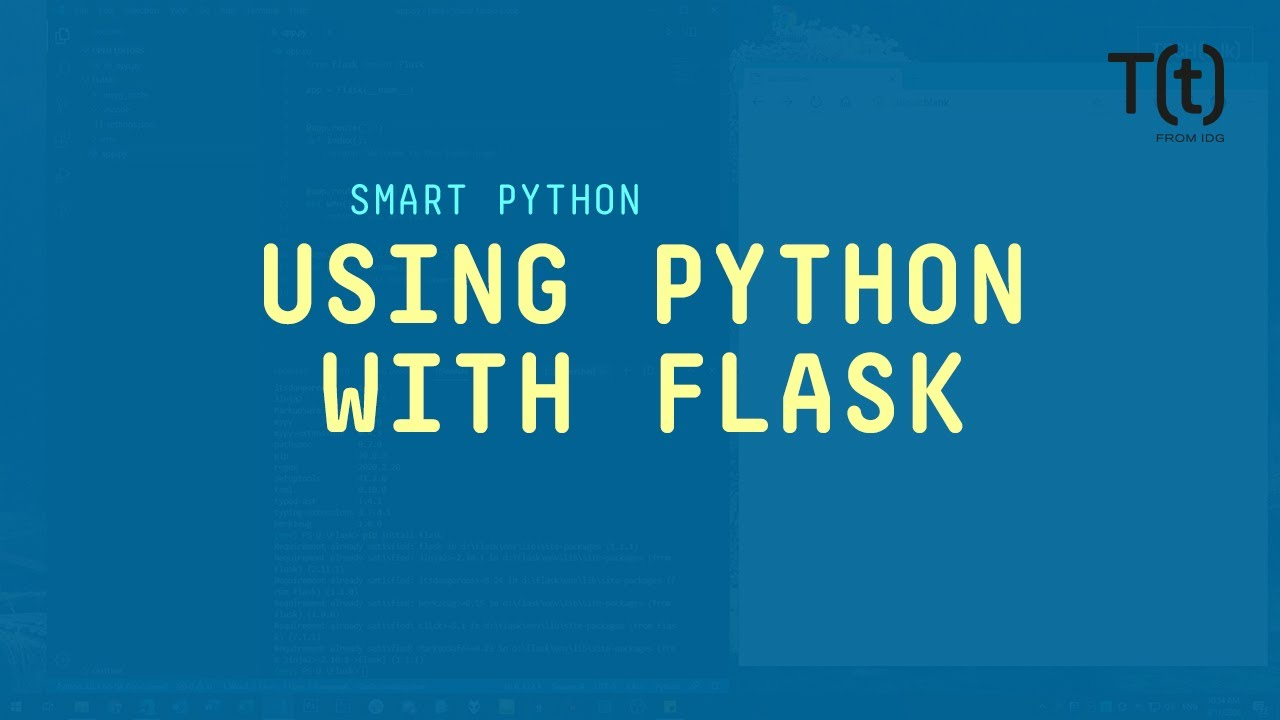 Creating a simple web app with Python and Flask