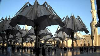 The Umbrellas closing of Masjid Al Nabawi In Medina Prophet