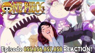 🍩OH DOUGHNUTS! 🍩❤️One Piece Episode 855, 856, 857, 858 REACTION!