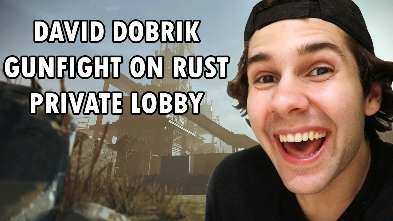 David Dobrik Private Rust Gunfight with Joe, John, Sky and Mike | Twitch Live Stream