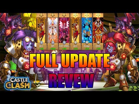 FULL UPDATE REVIEW: EQUIPMENT, SKINS, NEW HERO,  AUGMENTING... -CASTLE CLASH