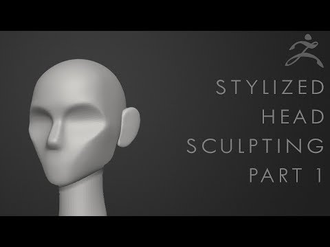 How to sculpt a stylized head in Zbrush  Tutorial Part 1