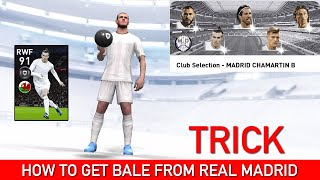 HOW TO GET BALE FROM REAL MADRID CLUB SELECTION | PES 2020 MOBILE
