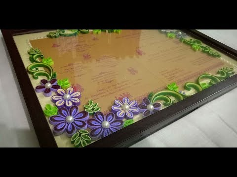 Quilling frame tutorial..diy gift for bestie