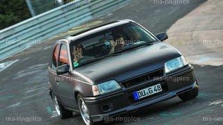 Opel Kadett E 2.0l 16V GSI Nordschleife Touristenfahrt 06.08.15 heavy traffic, no crash