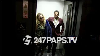 (EXCLUSIVE) Beyonce and Jay Z Pose for Iconic Elevator Photoshoot for his Birthday in NYC 120417