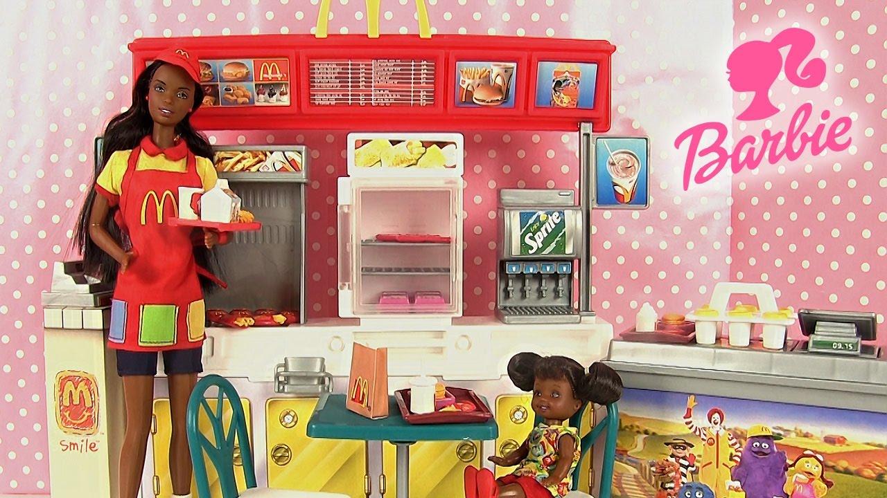 Barbie jouets restaurant mcdonald 39 s accessoires poup es for Accessoire de restaurant
