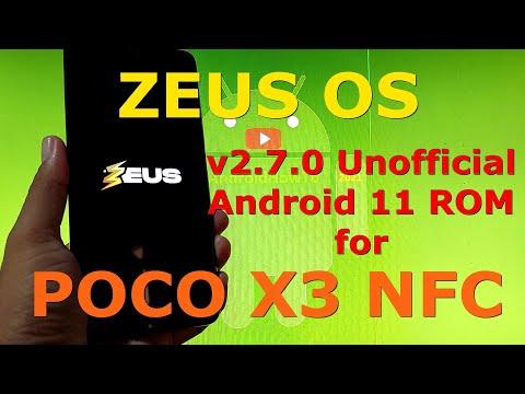 Zeus OS v2.7.0 for Poco X3 NFC (Surya) Android 11