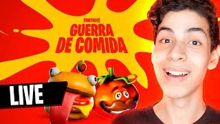 NOVO MODO NO FORTNITE ! GUERRA DE COMIDA - DBRSTREAM
