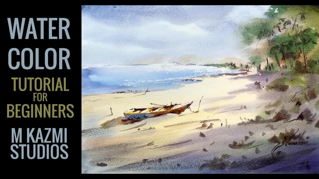 Watercolor Landscape Paitning Tutorial In Urdu Hindi