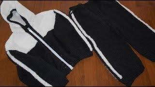 Спортивный костюм спицами малышу, 1 часть - брюки
