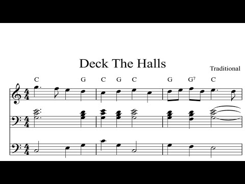 Deck The Halls: CHRISTMAS SHEET MUSIC Piano Organ & Keyboard Book 1