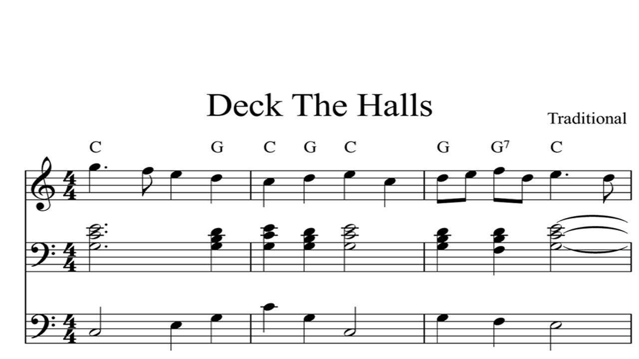 Deck The Halls: CHRISTMAS SHEET MUSIC Piano Organ & Keyboard Book 1 - YouTube