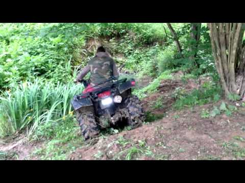 Playing in the creek - Suzuki LTF-250 Ozark