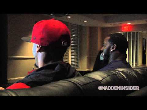 Colin Kaepernick & Patrick Willis face off in Madden NFL 13 prior to Super Bowl 47