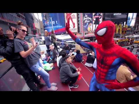SPIDER-MAN HOMECOMING INVADES NEW YORK CITY 2017 WILL THEY WATCH MY MOVIE?
