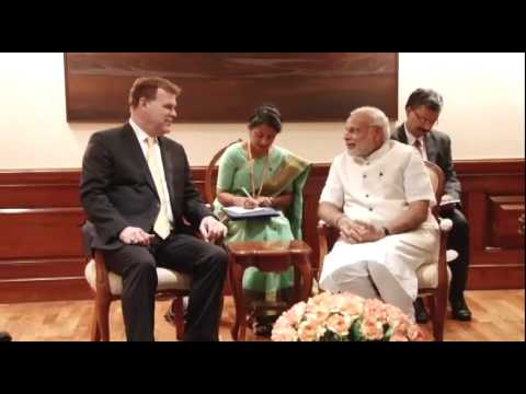 The Minister of Foreign Affairs, Canada, John Baird calls on PM Modi