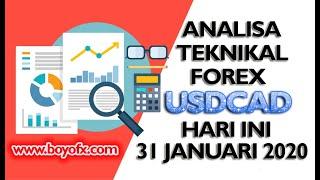 Analisa Teknikal Trading Forex USDCAD Hari Ini 31 Januari 2020