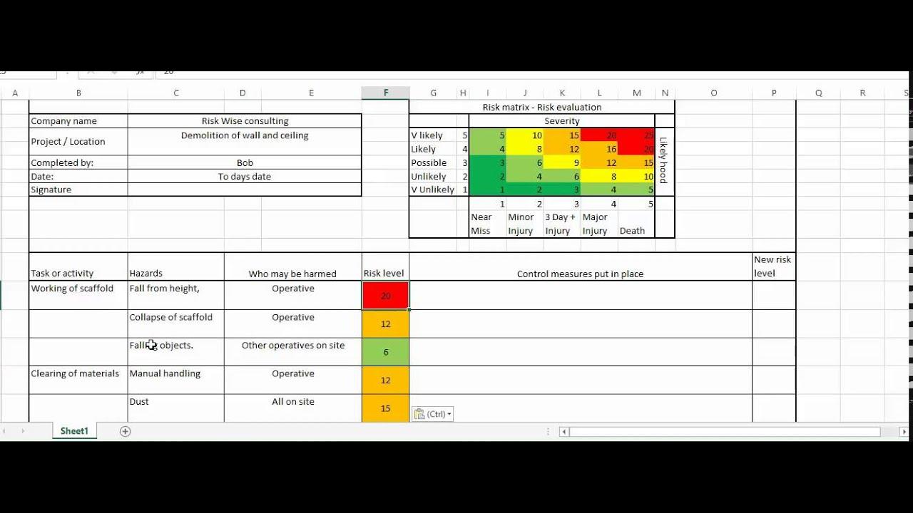 construction risk assessment - YouTube
