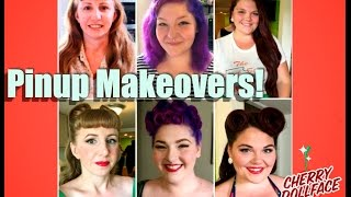 Pinup Vintage Hair & Makeup Makeovers: Nashville Boogie! by CHERRY DOLLFACE