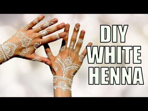 Diy White Henna Tattoo Youtube
