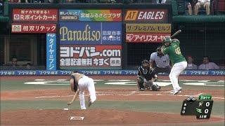 【プロ野球パ】中村がダルビッシュばりのスローカーブ、 ペーニャを翻弄  2015/08/16 E-F