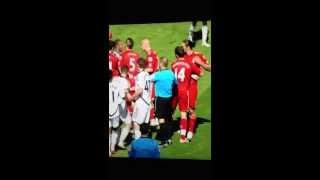 Ashley Williams & Andy Carroll brawl
