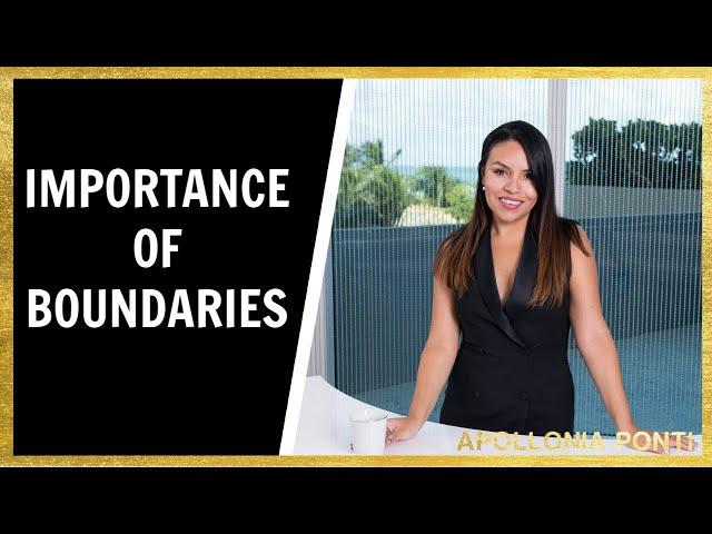 Setting Boundaries | Importance of BOUNDARIES!