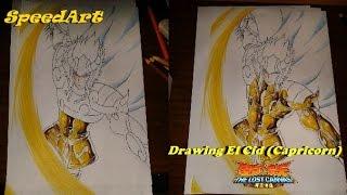 Drawing El Cid (CDZ Lost Canvas) Speed Art