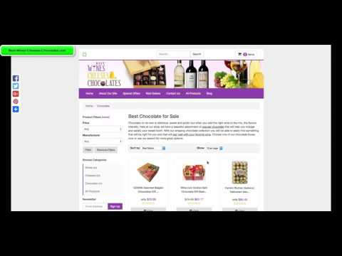 Best-Wines-Cheeses-Chocolates.com Amazon Associates Checkout Video
