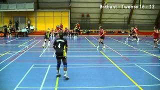 NK handbal 2012 Poulewedstrijd 01 brabant - twente (tweede helft)