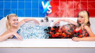 البارد مقابل السخن / البنت النارية مقابل البنت المثلجة