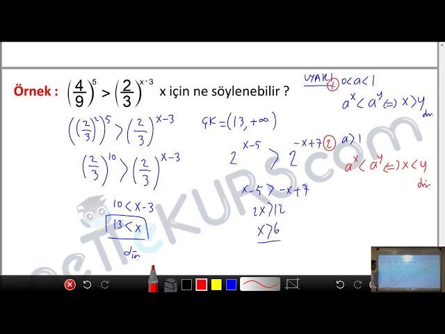 YÖS Matematik - Üslü İfadeler - 3 / nettekurs.com - Online YÖS Dershanesi