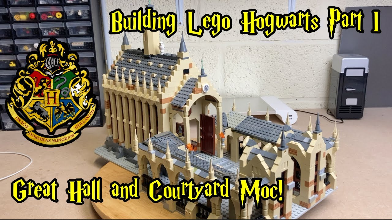 Download Building Lego Hogwarts Part 1: Great Hall and Courtyard Moc with Lights!