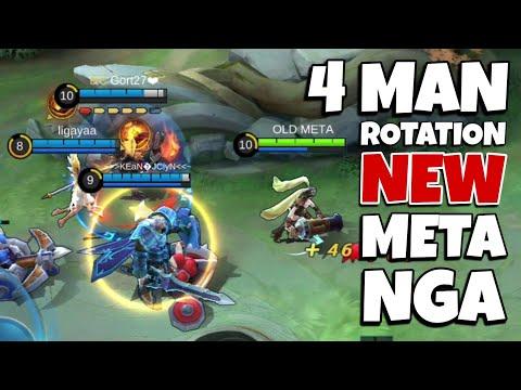 NEW NON STOP ACTION 4 MAN ROTATION! | Mobile Legends: Bang Bang