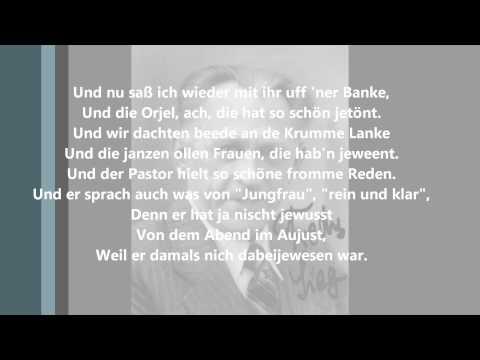Fredy Sieg - Das Lied von der Krummen Lanke (HD, Text)