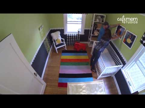 Colorful Nursery Transformation on a Budget