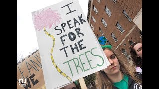 Students in New Jersey walked out of class for a global climate strike