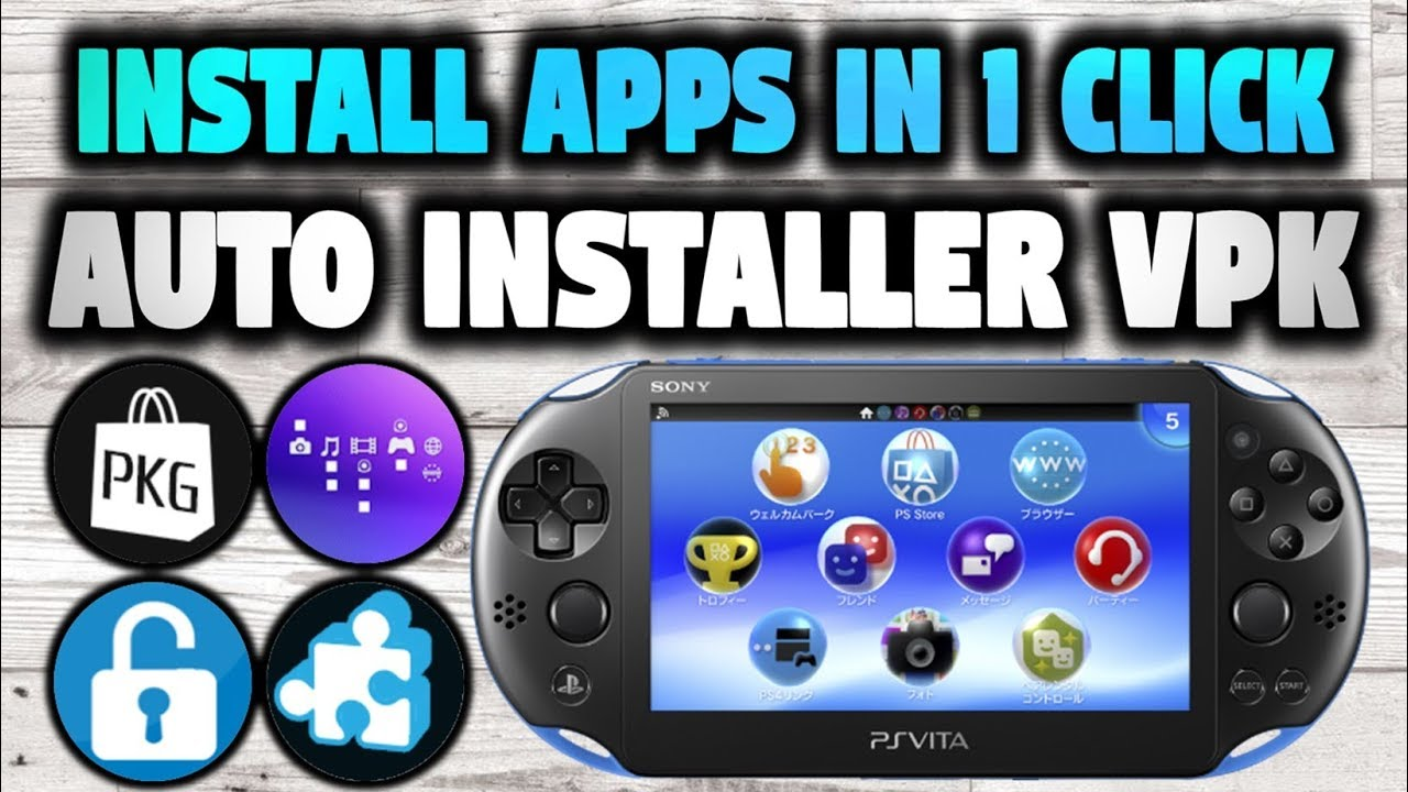 PS Vita Install Adrenaline, Pkgj & Autoplugin In 1 Click!