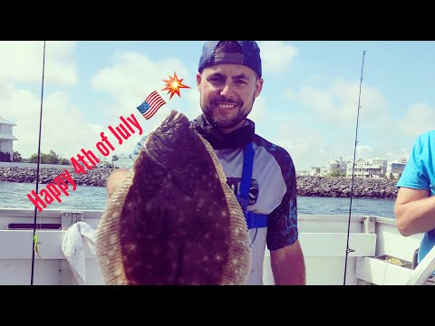 Flounder/Fluke Fishing Ocean City, MD! (4th Of July Chaos!)