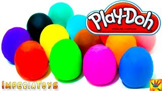 Many Play Doh Eggs Surprise Disney Princess Hello Kitty Minnie Mouse Thomas Cars Masha unboxing