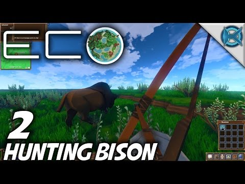 Eco | EP 2 | Hunting Bison | Let's Play Eco Gameplay (S-1)
