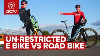 Just How Much Faster Is An Un-Restricted E Bike Than A Road Bike?