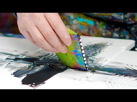 abstract-painting-demo-with-brushes,-palette-knife-and-stencils-|-antea