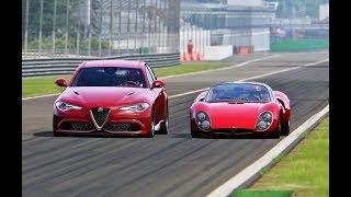 Alfa Romeo Giulia Quadrifoglio vs Alfa Romeo 33 Stradale